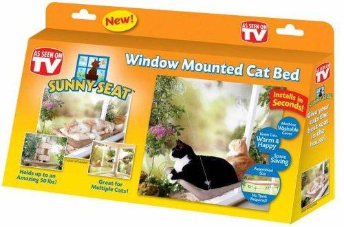 TV Hit Fenster Liege Katzenliege Fensterliege Sunny Seat Katze Bett Liege Hängematte Fensterhängematte Tiere