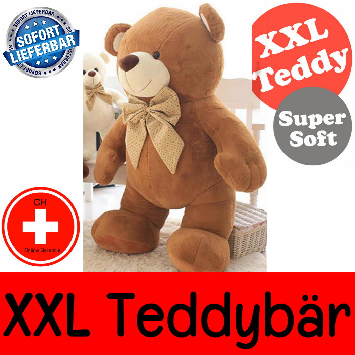 Teddy XXL Teddybär Tedi 210cm Geschenk Bär Plüsch Kind Frau Freundin Plüschtier Kuschelbär XXXL Schweiz Spielzeuge & Basteln