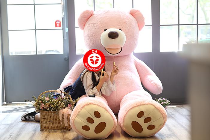 Teddy XXL XXXL Bär Teddybär Pink Rosa Plüsch Geschenk ca. 260cm 2.6m Plüschtier Kuscheltier Mädchen Kind Frau Freundin Valentinstag Geburtstagsidee Geburtstag Weihnachten Valentinstag Spielzeuge & Basteln