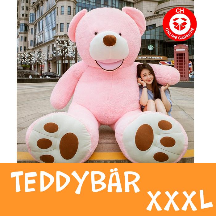 Teddybär Plüsch Bär Teddy Pink 200cm 260cm Geschenk XXL XXXL 2.0m 2.6m Frau Freundin Girl Mädchen Weihnachten Sammeln