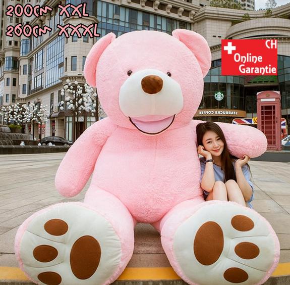 Teddybär Plüsch Bär Teddy Pink 200cm 260cm Geschenk XXL XXXL 2.0m 2.6m Frau Freundin Girl Mädchen Weihnachten Valentinstag Geburtstag Kind Kinderzimmer Baby & Kind