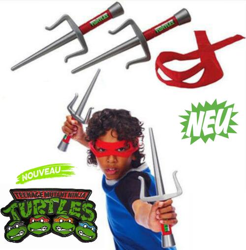 Teenage Mutant Ninja Turtles Rollenspiel-Set Raph Raphael Rafi Kostüm Spielzeug Waffen Set Kind Junge TMNT TV Kino Spielzeuge & Basteln