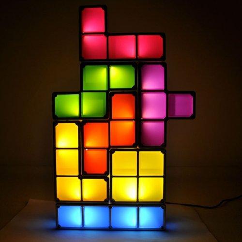 Tetris LED Leucht Lampe Neuheit Hingucker Fan Gadget Tetrislampe Geschenk Spiel Videospiel Haushalt