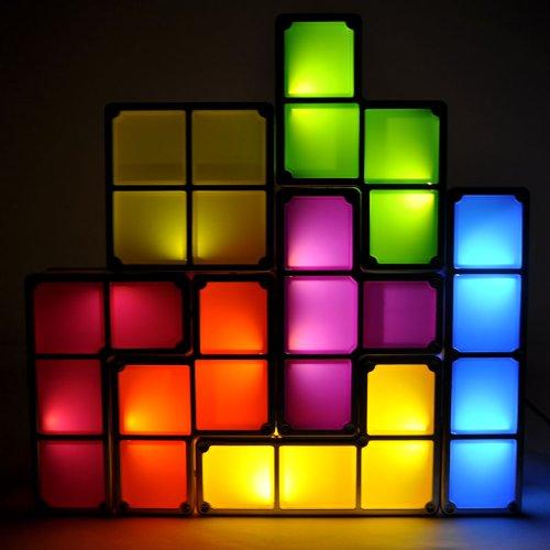 Tetris LED Leucht Lampe Neuheit Hingucker Fan Gadget Tetrislampe Geschenk Spiel Videospiel Haushalt 2