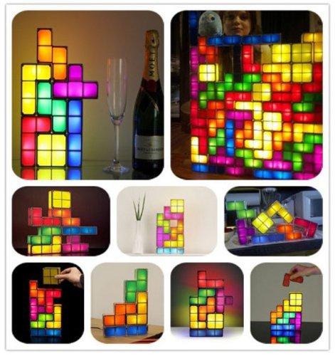 Tetris LED Leucht Lampe Neuheit Hingucker Fan Gadget Tetrislampe Geschenk Spiel Videospiel Haushalt 3