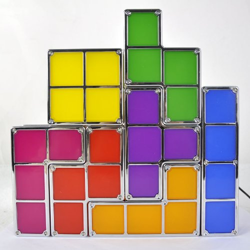 Tetris LED Leucht Lampe Neuheit Hingucker Fan Gadget Tetrislampe Geschenk Spiel Videospiel Haushalt 4