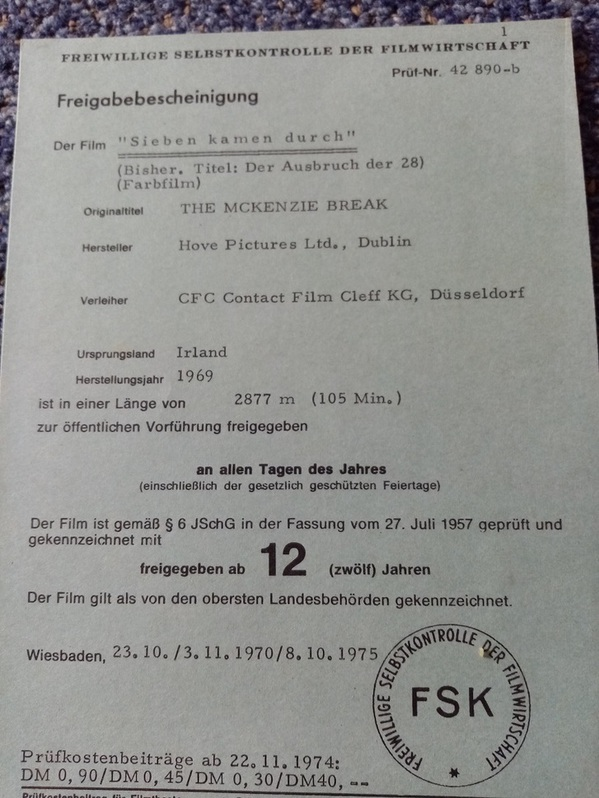 The McKenzie Break Film Plakat Horst Janson Sammeln 3