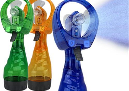Ventilator mit Sprühflasche Wassersprüher Mini Ventilator Fan für Unterwegs Outdoor Indoor Büro Gadget Sport & Outdoor