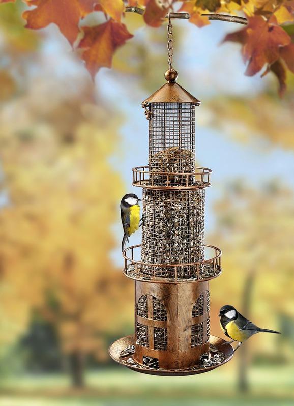 Vogelfutterstation in Leuchtturmstil für Garten Garten & Handwerk