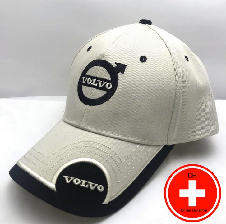 Volvo Cap Mütze Kappe Auto Fan Artikel Accessoire Schwarz Beige Kleidung & Accessoires 2
