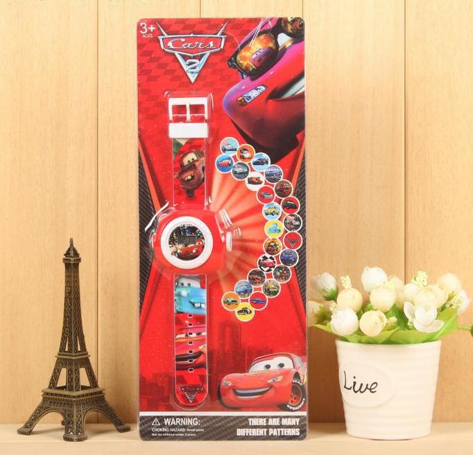 Walt Disney Pixar Cars Lightning McQueen Kinder Uhr Armbanduhr Projektor Armband Auto Fan Junge Baby & Kind