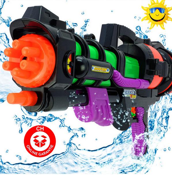 Wasser Gewehr Wassergewehr Pistole XXL 60cm mit grosser Reichweite Sommer-Spielzeug Garten und Strand Spritz-Pistole Badi Garten für Kinder und Erwachsene Sonstige