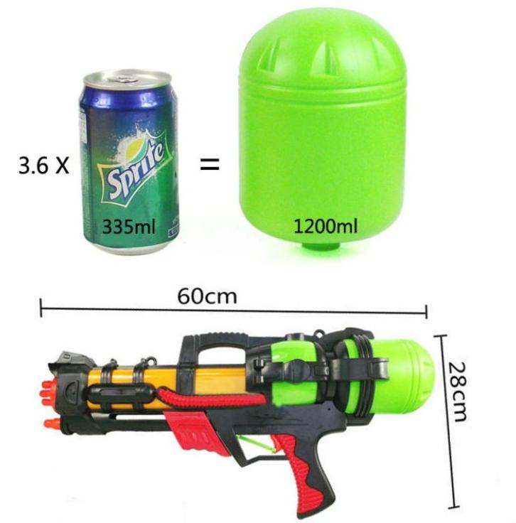 Wasser Gewehr Wassergewehr Pistole XXL 60cm mit grosser Reichweite Sommer-Spielzeug Garten und Strand Spritz-Pistole Badi Garten für Kinder und Erwachsene Sonstige 2