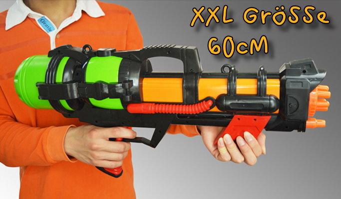 Wasser Gewehr Wassergewehr Pistole XXL 60cm mit grosser Reichweite Sommer-Spielzeug Garten und Strand Spritz-Pistole für Kinder und Erwachsene  Sport & Outdoor 2