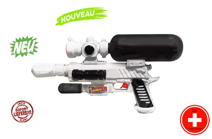 Wasser Pistole Gewehr Wasserpistole Wassergewehr Sommer Kind Kinder Spielzeug Garten Badi 44cm Tank Behälter Cool