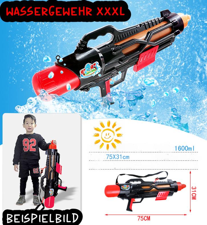 Wassergewehr Wasserpistole XXL XXXL Wasser Spielzeug Gewehr Pistole Sommer 75cm 1.6L Behälter Wasserschlacht Kind Kinder Sommer Spielzeug Sommerspielzeug Garten Pool Badi Spielzeuge & Basteln 2