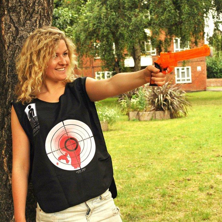 Wasserkriege Wasserpistolen Spiel Spielzeug Lustig Blut Weste Wasserpistole Wasser Pistole Wassergewehr Sommer Spielzeuge & Basteln 3