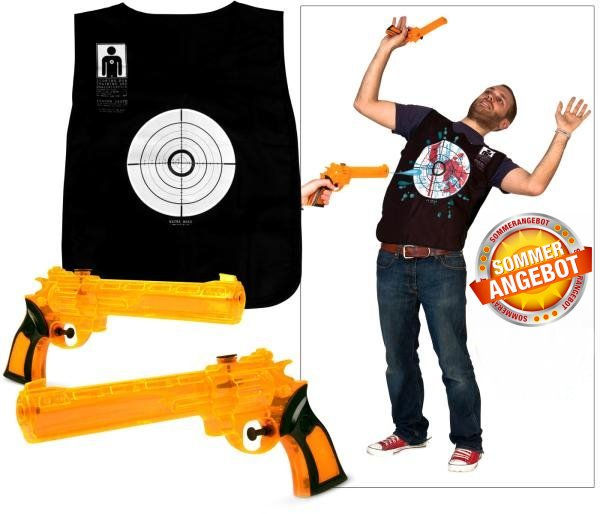 Wasserkriege Wasserpistolen Spiel Spielzeug Lustig Blut Weste Wasserpistole Neu Sommer Garten Badi Baby & Kind 2