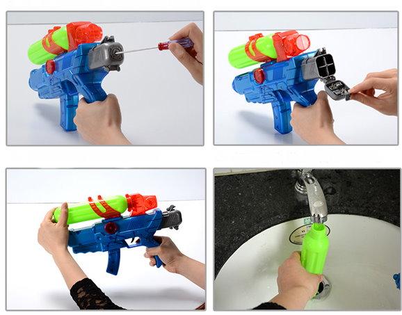 Wasserpistole Wassergewehr Automatisch Batterien Sommer Spielzeug Spass Kinder Kids Gewehr Spielzeuge & Basteln 2