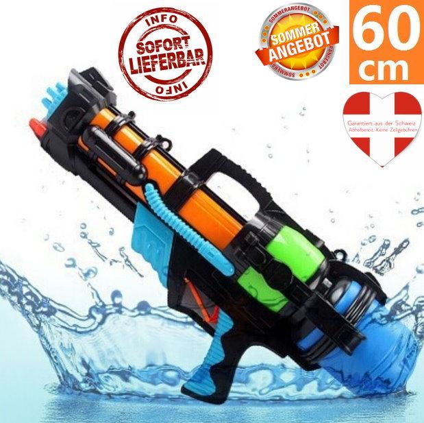 Wasserpistole Wassergewehr Wassermg MG Wasser Gewehr Spielzeug Sommer XXL Grösse 60cm Spielzeuge & Basteln
