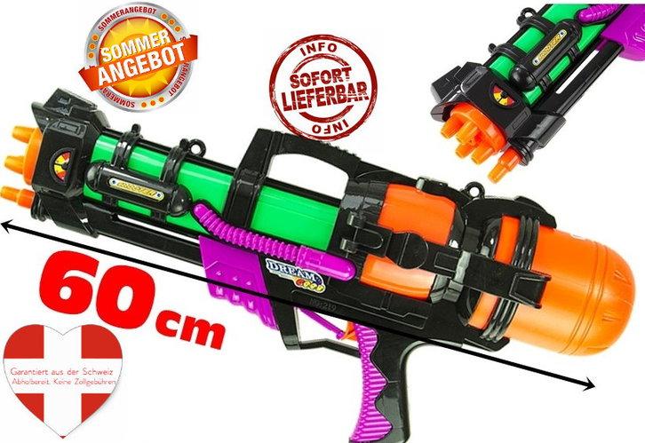 Wasserpistole Wassergewehr Wassermg MG Wasser Gewehr Spielzeug Sommer XXL Grösse 60cm Spielzeuge & Basteln 2