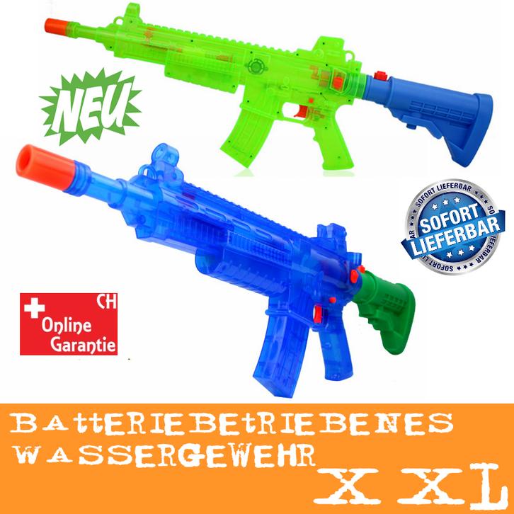 Wasserspritzpistole elektrisch batteriebetrieben Wasserpistole Wassergewehr MG Sommer Spielzeug XXL Garten Kind Kinder Junge Outdoor Badi Wasserspielzeug Haushalt
