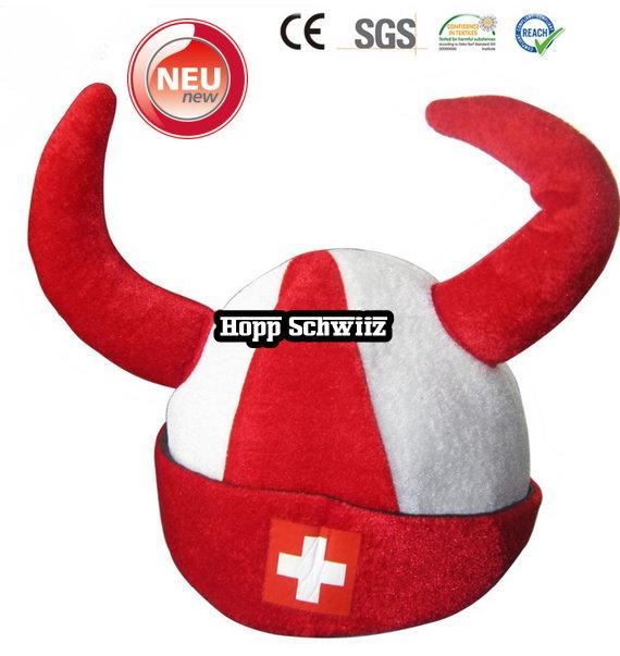 Wikinger Hut Schweiz Fan Cap Hut Mütze Fanartikel Kleidung Hopp Schwiiz Allez la Suisse Switzerland / Neu Kleidung & Accessoires