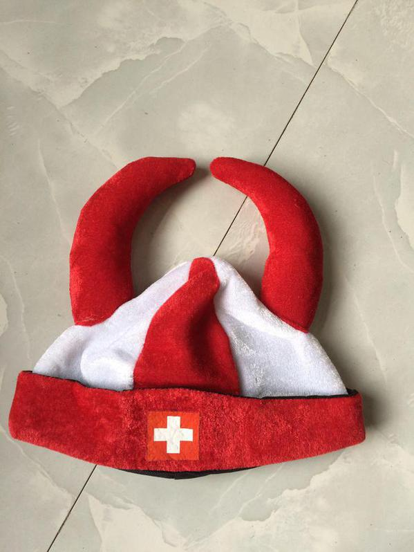 Wikinger Hut Schweiz Fan Cap Hut Mütze Fanartikel Kleidung Hopp Schwiiz Allez la Suisse Switzerland / Neu Kleidung & Accessoires 2