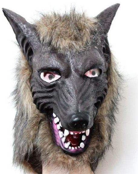 Wolf Maske Tiermaske Fasnacht Wallis Lustig Party Kleidung & Accessoires
