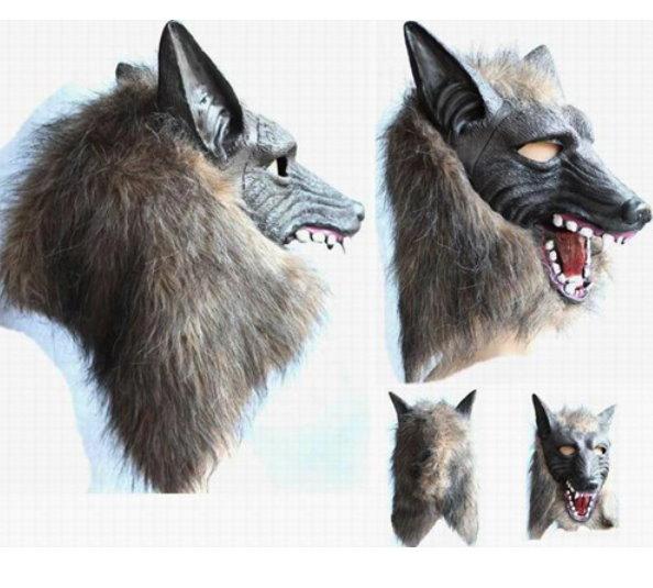 Wolf Maske Tiermaske Fasnacht Wallis Lustig Party Kleidung & Accessoires 2
