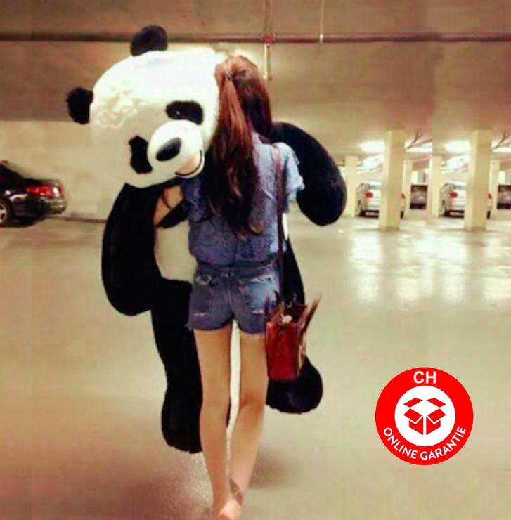 XXL Plüschtier Panda 200cm Stofftier Kuscheltier Geschenk Kind Frau Freundin Haushalt