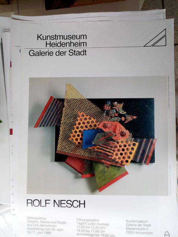 Zeitgenössische Kunst Plakat Rolf Nesch Sammeln