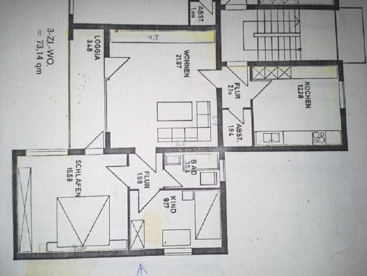 in A1 Lage Lage Lage Hannover 3 ZKB mit Süd Balkon Immobilien 4