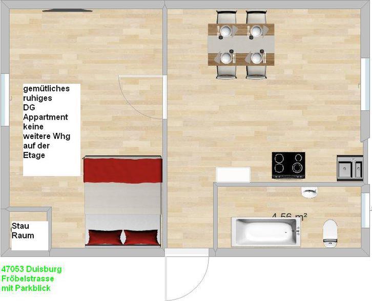 ruhige Kleinst Wohnung Duisburg Immobilien 2