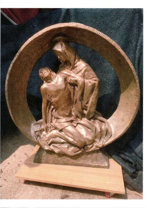 statua di bronzo  FIRMATA  DALL'ANGELO cm 92 per cm 98 Antiquitaeten