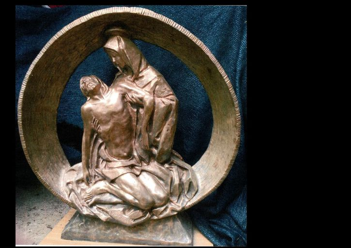 statua di bronzo  FIRMATA  DALL'ANGELO cm 92 per cm 98 Antiquitaeten 2