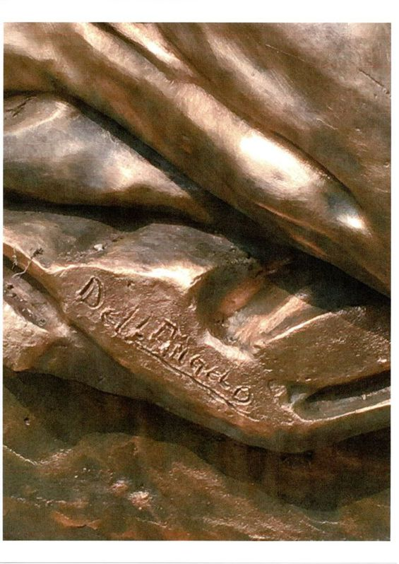 statua di bronzo  FIRMATA  DALL'ANGELO cm 92 per cm 98 Antiquitaeten 4