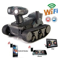 Ferngesteuertes WiFi Spionage Handy Smartphone Auto Panzer iPhone iPad Android Samsung HTC Tablet