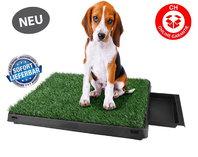 Hunde Hund Welpen WC Klo Toilette Hundeklo Hundewc Welpenklo Welpentoilette Klo Indoor & Outdoor mit Behälter Stubenrein Kunstrasen