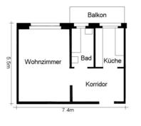 1 Zimmerwohnung 8032 Kanton:zh