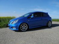 OPEL Corsa 1.6 Turbo OPC, blau, Schaltgetriebe, 8fache Bereifung
