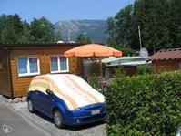 Stationären Wohnwagen mit Vorbau
