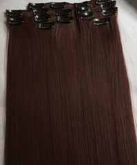 Haarverlängerung Clip in Extensions 100- 300Gramm- FULL HEAD