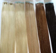 Haarverlängerung Tape in oder Extensions 100% Echthaar