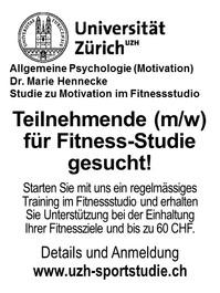 Teilnehmende (m/w) für Fitness-Studie gesucht!