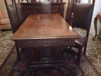 tavolo e 6 sedie in pelle