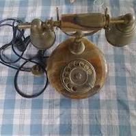 Telefono vintage marmo  funzionante