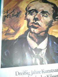 1980 Plakat Ludwig Meidner Porträt Becher