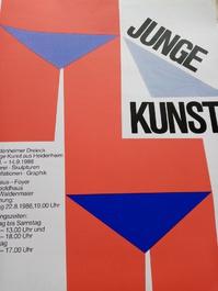 1986  Junge Kunst  Plakat 7920 Heidenheim Vonhoff