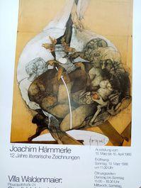 1988  Ausstellungs Plakat moderne Kunst Prof Hämmerle